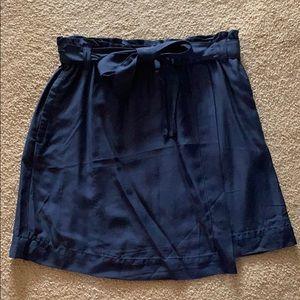LOFT Navy Skirt with Bow